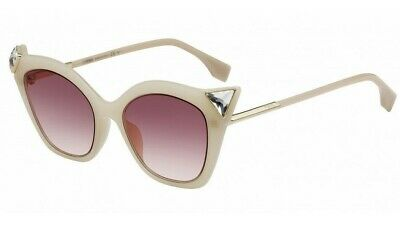 NEW FENDI IRIDIA SUNGLASSES FF 0357/G/S 40G3X 52 IVORY (Fendi Iridia Sunglasses)