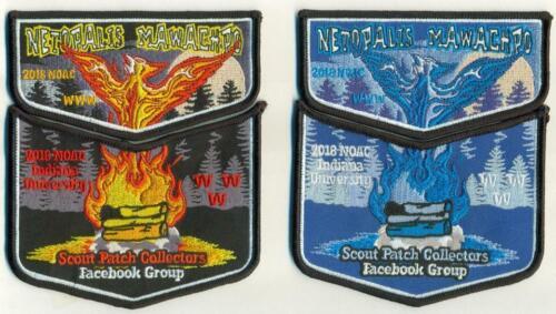2018 NOAC Scout Patch Collectors Facebook Two Piece Fire & Ice OA Flap Set