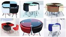 new dining set red & black blue white brown beige round or square Casula Liverpool Area Preview