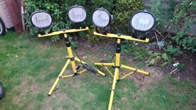 Defender Double Tripod Light 240v £30 each or £50 for the to