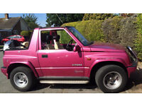RARARE BRIGHT PINK CONVERTIBLE 4X4,MOT JUNE 2017 ,WIDE BOY ,PRIVATE PLATE