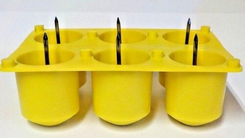 New   6 Cavity Votive  Plastic Candle Mold With Wick Pins Made in the USA