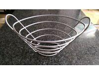 Satin steel basket