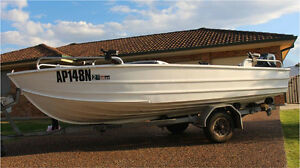 Brooker  V14 aluminium boat 25 HP Yamaha Maryland Newcastle Area Preview