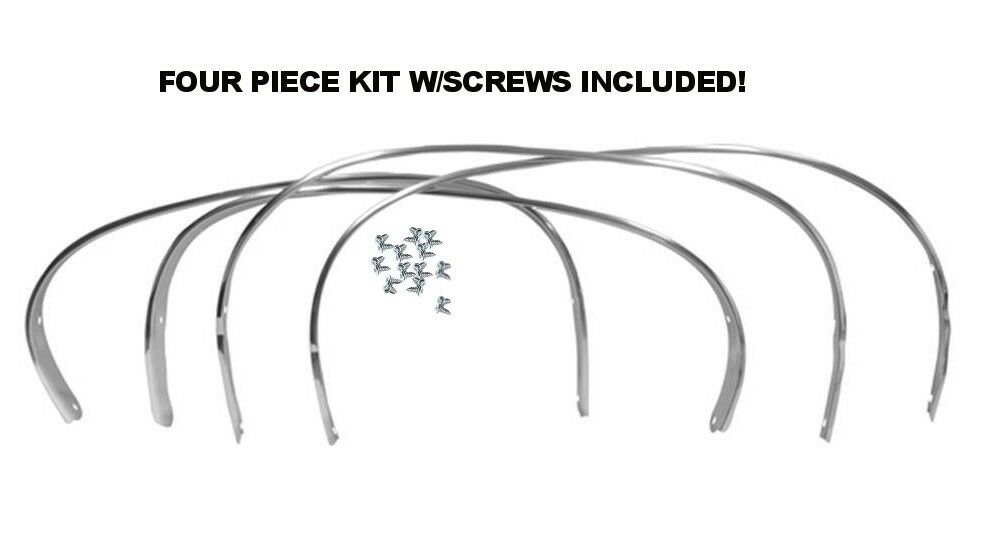 68 68 70 dodge charger wheel well opening moldings trim set complete mopar new for sale