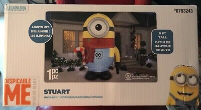 Gemmy 9 Foot Minion Stuart blow up Christmas inflatable Yard Decor Large NIB NEW