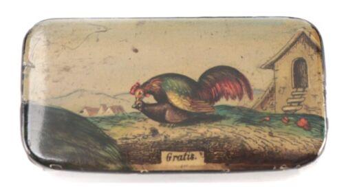 Antique Risqué 1800s Paper Mache Snuff Box Rooster Cuckold Hen - GRATIS - Free!