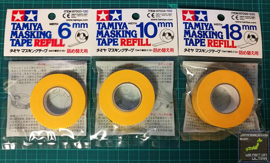 Tamiya Masking Tape 6,10,18,40mm Refill, w/dispenser,FREE SH