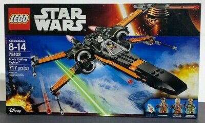 LEGO 75102 Star Wars Poe's X-Wing Fighter - Brand New Factory Sealed - FREE SHIP