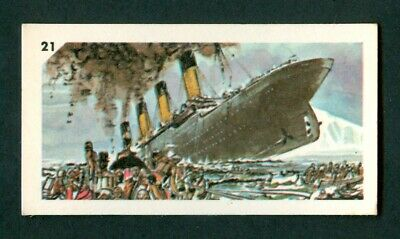 1962 hms TITANIC Card NABISCO Cereal CANADA Only Issue TITANIC SHIP SINKING