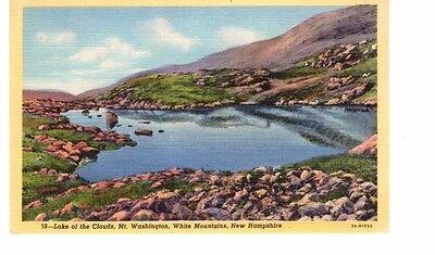 Vintage Linen Postcard  Lake of the Clouds, Mt. Washington, White Mountains, NH