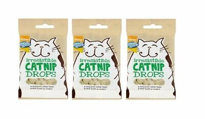 CATNIP DROPS X 3 packs of 40g Cat Treats GOOD GIRL Flavoured With REAL Catnip