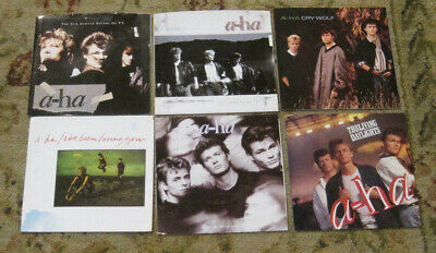 LOT of 6 A-Ha 45rpm Picture Sleeves (only)