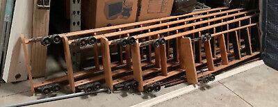 9 Ft Cotterman Oak Wood Rolling Library Ladder