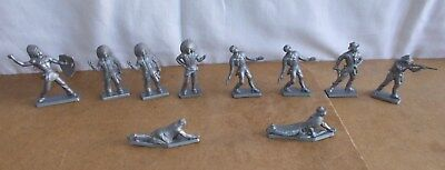 10 anciennes figurines publicitaires CAFE LEGAL - indiens cowboys far west - 50s