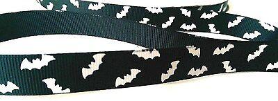 Halloween spooky black bat printed 16mm grosgrain ribbon arts/crafts  - Halloween Bat Arts Crafts