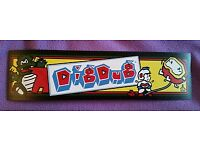Buy any 3 stickers, GET ONE FREE! Dig Dug arcade marquee sticker.2.75 x 10.5
