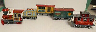 Hallmark Ornament 1994-1998 Yuletide Central Tin Train Complete set of 5 Series