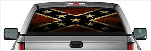 Old Southern Rebel Confederate Flag Rear Window Graphic Decal SUV Truck Decals
