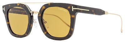 Tom Ford Rectangular Sunglasses TF541 Alex-02 52E Dark Havana/Gold 51mm (Ford Sunglasses Tom Ford)