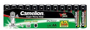 60 x Camelion AA R6 Mignon Batterie Super Heavy Duty Grün lose 1,5V 10101206