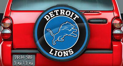 Detroit Lions NFL Logo Vinyl For Spare Tire Cover Decal, Wheel (Detroit Lions Tire Cover)
