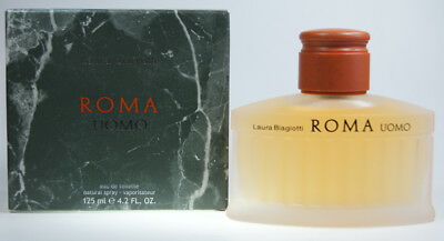 Laura Biagiotti Roma Uomo EDT 125 ml Eau de Toilette Spray NEU Herren Duft NEU - 125ml Eau De Toilette Spray
