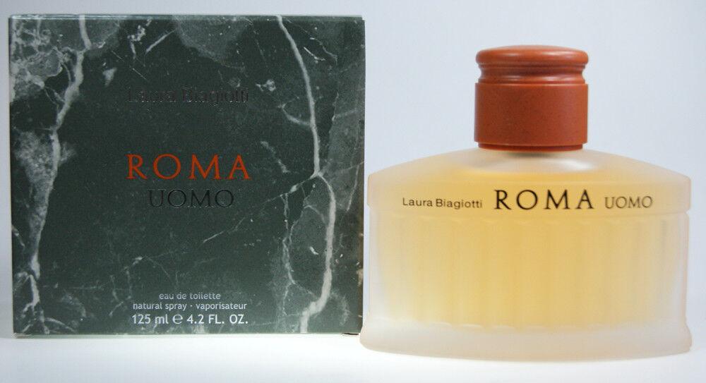 Laura Biagiotti Roma Uomo EDT 125 ml Eau de Toilette Spray NEU Herren Duft NEU