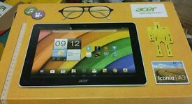 ACER ICONA A3 TABLET COMPLETE WITH MANUAL AND CHARGER IN BOX