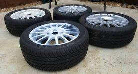 Ford Fiesta Zetec S Alloy wheels with tyres