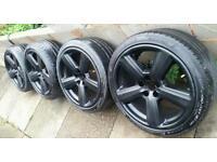 "18"" Audi RS6 S Line REP ALLOYS 5x100. Fit mk3 mk4 VW Golf Bora A3 mk1 Seat Leon mk1 Fabia Octavia"