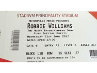 Robbie Williams concert tickets Cardiff