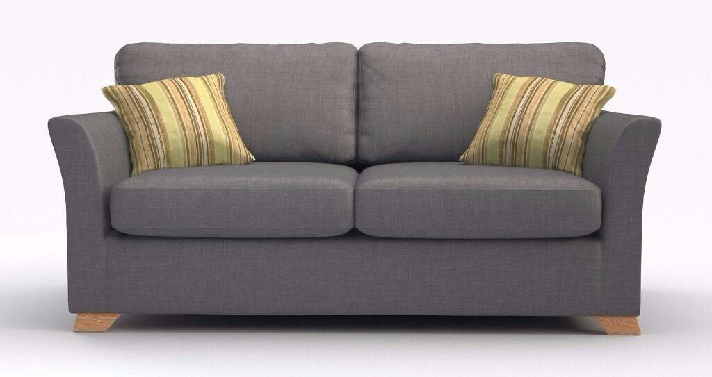 Dfs Zuma Slate Grey 3 Seater Fabric Sofa