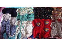 NEXT boys 0-3 month bundle vests & sleepsuits