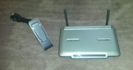 Belkin G + Mimo Router and USB Network Adapter for sale