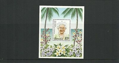 JAMAICA SGMS883-95TH BIRTHDAY OF QUEEN ELIZABETH THE QUEEN MOTHER  MINISHEET MNH