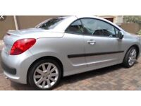 Peugeot 207 cc metallic silver, great condition with hands free parrot fitted, see car specs below.