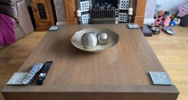 Solid wood table with storage £150-100