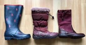 Girls branded winter boots / wellies size UK 12