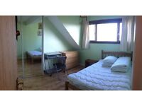 central flat with 1 double bedroom available now