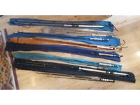 Job lot - 8 no. home made fly fishing rods; 2 x salmon, 6x trout.
