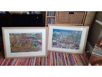 Limited edition J.G.Miller framed prints BISHOP AUCKLAND DURHAM