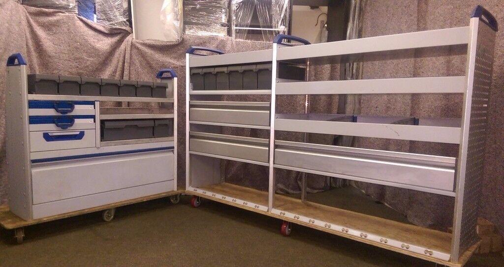 Sortimo Globelyst Van racking, van shelving, drawers, lin bins, Service cases