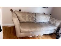 """SOFA (FURNITURE VILLAGE) 3 SEATER & SNUGGLE """"AS NEW"""" PAID £2368.00"""