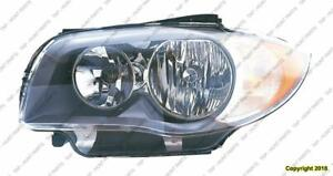 Head Light Driver Side Halogen [Coupe 2008-2011] [Convertible From 2008- March 2011] High Quality BMW 1-Series