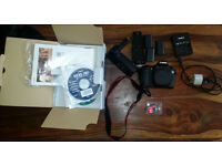 Canon EOS 70D DSLR with accessories