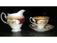 Royal Albert cup, saucer and jug