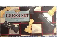 WH Smith Chess Board and Pieces - Good Condition!