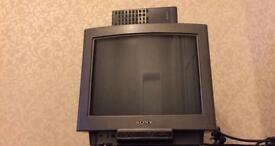 "14"" Sony Television With Remote, Teletext"