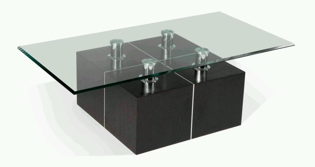 Dfs dark walnut coffee table with glass top in heathrow for Coffee tables gumtree london